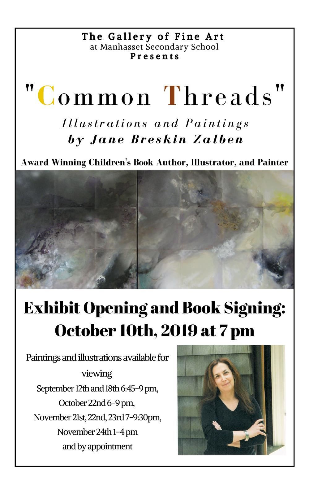 Manhasset Secondary School Hosts �Common Threads� Fine Art Exhibit