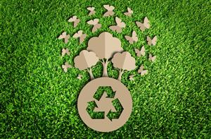 recycle sign on grass: (taken from capitalmds.com)